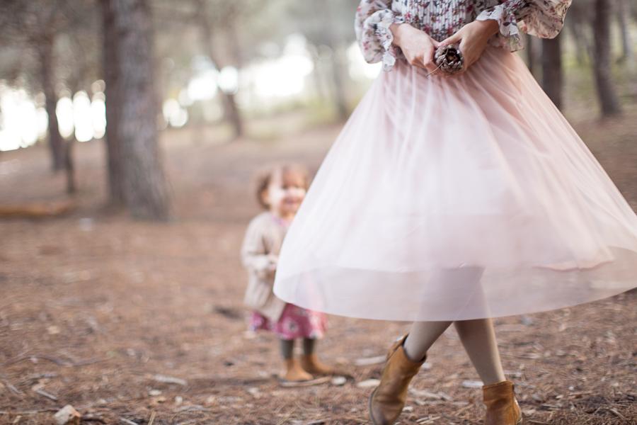photographie mère-fille en tutu à Cannes