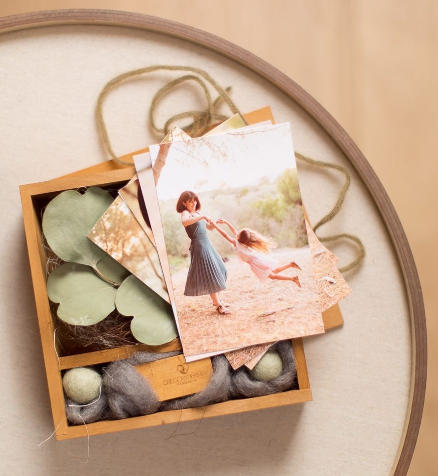 Ecrin pour photographies de famille