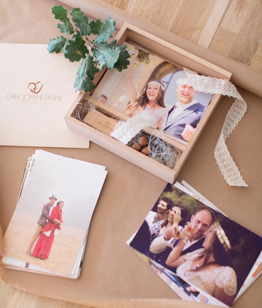 Ecrin pour photographies de mariage